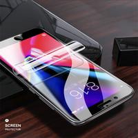 Hidrojel Ekran Koruyucu Yumuşak TPU Film Samsung Galaxy S10 S10e Için S10 Artı S9 S8 Artı Tam Kapsama Temizle Film Yok Temperli Cam