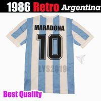 1986 1978 Argentina clásico retro vintage DIEGO MARADONA camiseta Camiseta de fútbol Camiseta Camisa de futebol Camiseta de fútbol para adultos CALIDAD DE TAILANDIA