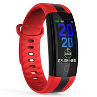 QS01 Smart-Armband-Uhr-Fitness Tracker Blutdruck-Puls-Monitor-Smart Watch wasserdichte intelligente Armbanduhr für iPhone und Android-Uhr