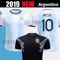 2019 nuevo equipo de fútbol argentino camiseta eliminatorias mundiales MESSI AGUERO DYBALA DI MARIA camisetas del equipo nacional America's Cup Jersey