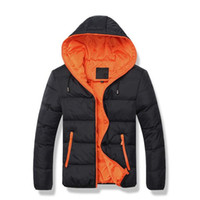겨울 자켓 남자 모자 웜 코트 코튼 패딩 아웃 츄리 남성 코트 자켓 후드 칼라 슬림 의류 두꺼운 솔리드 무료 배송
