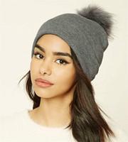 الشتاء أوروبا وأمريكا الصوف الكرة حك قبعة صوف السيدات حك في الهواء الطلق الشعر الكرة هات الشعر الكرة قبعة دافئة الأزياء