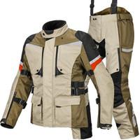 남성용 트랙스 맨 600D 옥스포드 방수 OFF-DORD RIDING WINDPROM 겨울 따뜻한 안감 코트 오토바이 재킷 및 바지 크기 S-4XL