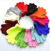 Gant Mitten bébé d'hiver Designer Gants enfants Mitaines enfants Bonneterie stretch Gants Girls Solid Full Finger Gants Gants 12 Designs