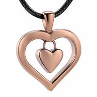 Funerale LKJ9962 dell'oro del caffè del nuovo di disegno del cuore cremazione ciondolo Urna Ceneri Holder umana Memorial Locket con imbuto libero Gift Box