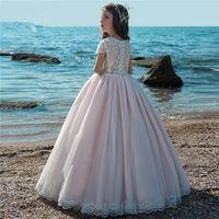 2020 Nouvelles nouvelles robes de fille de fleur pour mariages Vestidos Daminha Kids Enfants Soirée Robes de Robes de première communion pour les filles