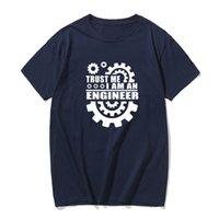 Sommer-Baumwoll-T-Shirts Vertrauen ich bin Ingenieur gedruckt Männer T-Shirt der beiläufigen Männer T-Shirt O-Ansatz Strickoberteile T Shirts