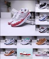 30 th Anniversary 1 OG Mens Running Shoes Sketch to Shelf White University Red Wolf Grey Running Run المدربين أبيض أسود 1 البحرية الاحذية