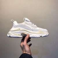2019 мужская мода Triple-S папа Повседневная обувь 17FW бежевый черный дешевые спортивные женщины толстым дном дизайнер Triple S обувь размер 36-45