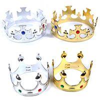 Fiesta de cumpleaños de la corona Los niños se visten Sombrero creativo de plástico Príncipe Princesa Reina Coronas imperiales Venta directa de fábrica 2cya p1