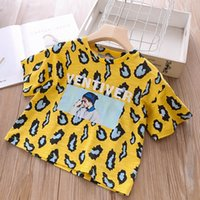 Fashion leopard print girls T- Shirt 2019 new Summer Cartoon ...