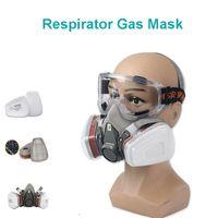 Mezzo viso pittura spruzzatura respiratore maschera antigas proteggere maschera antipolvere per la sicurezza del funzionamento del filtro saldatura spray protettivo anti-inquinamento