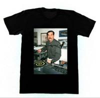 New Fashion Brand Tops Maschio Tshirt Uomo DJ Saddam Hussein T-shirt Technics 1200 Iraq House EDM Hip Hop Cotton T-shirt T-shirt