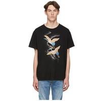 Mode-Männer Stylist T Shirts Sommer-T-Shirt Kran Druck-Qualitäts-T-Shirt Hip Hop Männer Frauen Short Sleeve Tees Größe S-XXL