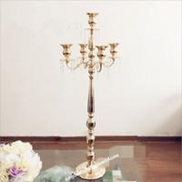 70см / 110см высокий) Оптовая металл золото канделябры венчанию Centerpieces стояков украшение для большого свадебного стола senyu0464