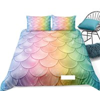 Mermaid Duvet Cover Set Twin Girl Shell Bedding Set Colorful...