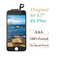 100% Original La mejor calidad para iPhone 6S 6S Plus Pantalla LCD Digitalizador de pantalla táctil + Marco Asamblea completa completa