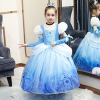 Retail 2020 High kids dress snow queen tutu Pleated princess...