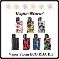 Vapor tempestade ECO RDA Starter Kit 90W 18650 Battery Graffiti Box Mod Lion RDA Vape Kits DHL grátis