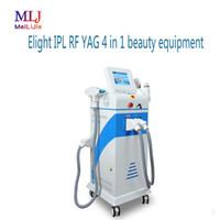 Profissional e luz IPL RF YAG 4 em 1 equipamento da beleza, Multi-function360 magneto-óptica, sardas, ir para a melanina, depilação