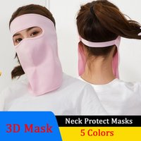 Face Mask Outdoor Sunscreen Full Face Mouth Cover Breathable...