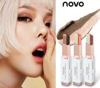 Maquillage velours NOVO changement progressif à double couleur ombre stylo oeil paresseux fard à paupières différentes couleurs 6 Collez velours Marque dégradé ton dégradé