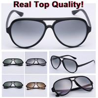 2020 Classic Design aooko Con wapiti01 marca occhiali UV400 del tutto-Fitreal lente di vetro di Sunglass 4125 Sun Occhiali da sole Uomini gatto 5000