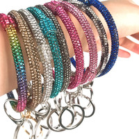 Silicone strass porte-clés Bracelets femmes bling bracelet en cristal Porteclés grand Wristband O Bracelet Chaînes Porte-clés Cercle voiture D22904