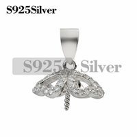 Cubic Zirconia Stone Semi Pearl Pendant Mounts Four Heart Cl...