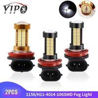 2PCS 1156 1157 BA15S P21W bay15d h8 h11 niebla faros diurnos LED DRL Luz 4014 Bulbos 106SMD auto del coche lamp12V 6000K y 8000K