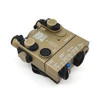 전술 DBAL-A2 LED 백색 빛 200 루멘 사냥 손전등 통합 빨간 laser는 먼 스위치 소총 건 빛으로 온다