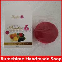 2019 Bumebime قناع الصابون الطبيعي الجلد الجسم الطبيعية تبييض الصابون اليدوية الصابون مزدوجة الأبيض الشحن المجاني