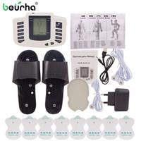 Muscle Beurha elettrico Pulsante stimolatore russo terapia di impulso del Massager di agopuntura di dieci completa di massaggio Body Relax Cura 16 Pads