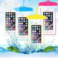 Universelle transparente wasserdichte Beachtasche Hüllen für iPhone 8 7 x xr plus Samsung LG