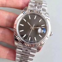 Top Marca 126.234 Datejust relógios homens de aço Relógio mecânico automático Reloj Negócios Moda Aço Inoxidável Fecho de relógios Mens