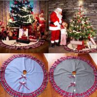 122cm شجرة عيد الميلاد لينة التنورة الكلمة حصيرة الخيش البساط حزب عيد الميلاد ديكور المنزل