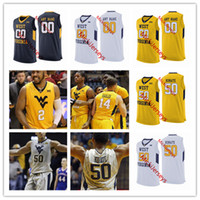 New Arrival. Mens Custom NCAA West Virginia Mountaineers Basketball Jersey   50 Sagaba Konate Jevon Carter ... 027d58b9c