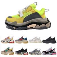 مصمم أبي حذاء باريس 17FW ثلاثية S المدربين الرياضية الفاخرة عارضة حذاء رجل إمرأة عداء أحذية أعلى جودة مع مربع