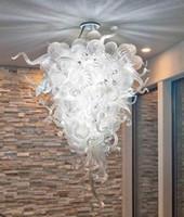 램프 AC 110V / 240V LED 가벼운 소스 스타일 무라노 손을 맑은 유리 공 샹들리에 집 장식