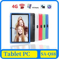43x 7 pulgadas capacitiva Allwinner A33 Quad Core Android 4.4 de doble cámara de la PC Panel PC de la tableta de 8 GB de RAM 512 MB de ROM WiFi EPAD Youtube Facebook Googl