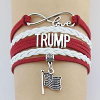 Donald Trump 2020 Weaving Armband bilden Amerika Great Again Gedenk Armband USA Banner Präsident Mode Armband Wahl Supplies