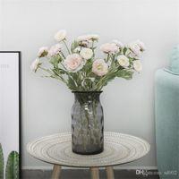 Pequeno Lótus Flor Falso Casa Desktop Flores Artificiais Planta Em Vaso De Decoração Suprimentos Estrada Do Casamento Organizar Mais Cor 7 7ydC1
