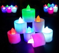 Çok renkli Elektronik Mum Işığı LED Simülasyon Mum Işığı Doğum Düğün Alevsiz Yanıp sönen Mum Plastik Ev Dekorasyon EEA1693