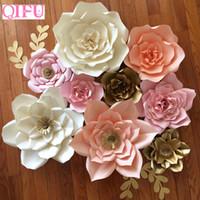 Qifu DIY Papierblumen Wanddekorationen Kinder Foto Hintergrund künstliche Blumen für Hochzeit Bevorzugungen und Geschenke Papierblumen T191029