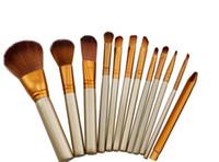 12 STÜCKE Make-up Pinsel Kosmetische Gesichts Make-up Pinsel Werkzeuge Make-up Pinsel Set Kit Mit Kleinkasten Freies verschiffen
