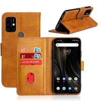 Couvercle de portefeuille en cuir PU pour Umidigi Power 3 A3S F2 Back Cover Cover Coque Téléphone avec Slot de carte d'identité