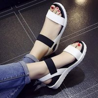 Hot Sale-Summer shoes Hot Selling sandals women peep-toe flat Shoes Roman sandals Women shoes sandalias mujer sandalias