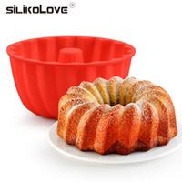 SILIKOLOVE Mini Cake Moldes Moldes de silicona para bandejas de horno de pan Pies Pan de molde para hornear antiadherentes de silicona Bandejas sartenes
