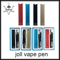 in stock Vape JOLL Kit 280mAh Penna compatibile Batteria Caricatore USB Cartuccia Pod Kit penna Vape monouso vs Spinner per visione 2 batteria intelligente