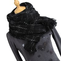 Newest 2019 knitted spring winter women scarf plaid warm cas...